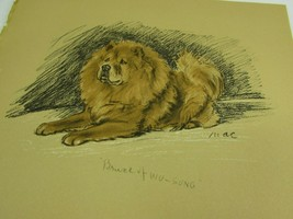 Lucy Dawson 1937 Chow Dog Print Vintage 51788 Bruce Red Prince of Wu Sung - $19.79