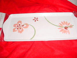 Corelle Pretty Pink Tidbit Serving Tray Brand New In Package Free Usa Shipping - $18.69