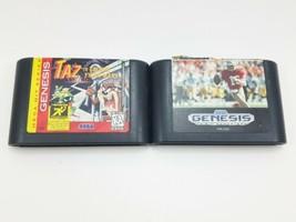(Lot of 2) Taz in Escape From Mars 1994 & Sports Talk Football (Sega Gen... - $9.69