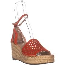 Franco Sarto Calabria Espradilles Sandals, Red Suede, 7 US / 37 EU - $38.39