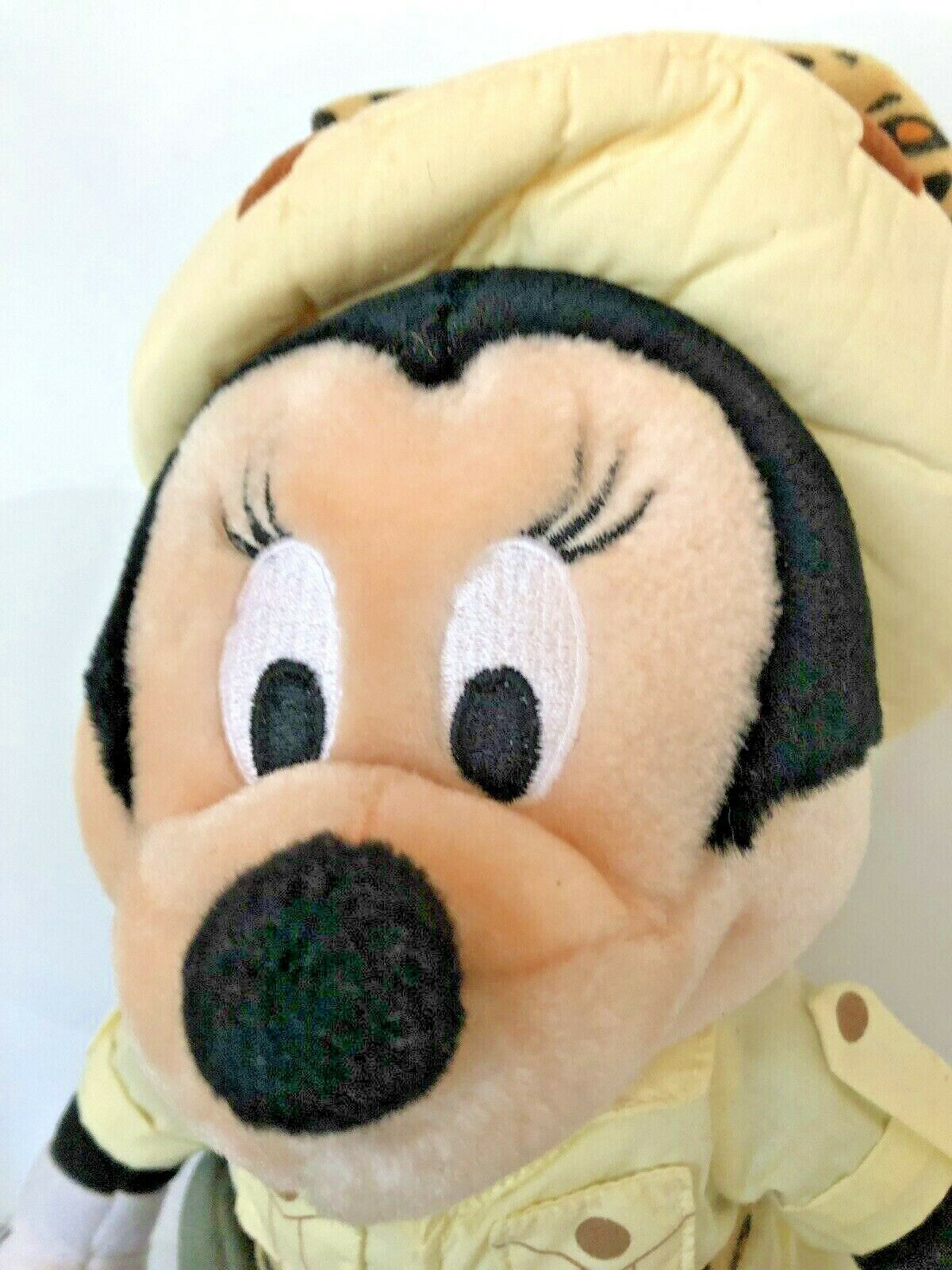 """Disney plush Safari Minnie Mouse stands about 14"""" tall with compass leopard bow  image 2"""