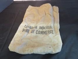 Vintage Canadian Imperial Bank of Commerce Money Bag FREE SHIP - $19.17