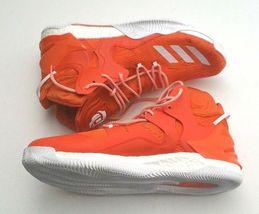 Adidas Men B38925 D Rose 7 Boost Primeknit Basketball Shoe Orange/White Size 16 image 5