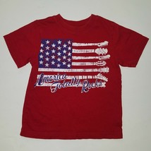 Children's Place Red Flag Tee Top 3T United States USA Patriotic FADING AS IS - $12.82