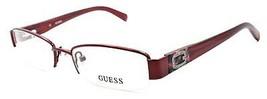 GUESS GU2368 BU Women's Eyeglasses Frames Half-Rim Petite 50-17-135 Burg... - $65.24