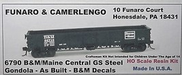 Funaro & Camerlengo HO B&M GS Steel Gondola as built Kit 6790 image 1