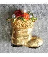 ART Festive Christmas Santa Boot Brooch       - $19.95