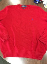 Mens Ralph Lauren Polo Soft Cotton Ribbed Cuff Waist Sweater Size L C21 - $14.50