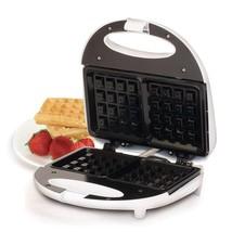 White Waffle Maker Iron Non Stick 2 Square Extra Large Waffles Upright S... - $18.69