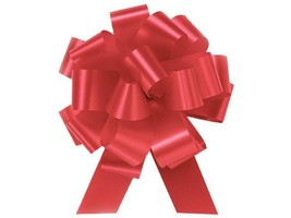 """Imperial Red Flora Satin 5.5"""" Pull Bows 20 Loops set of 10 Gift wrap Chr... - $10.84"""