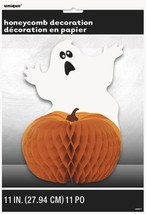 Scared Ghost Pumpkin Halloween Party Honeycomb Centerpiece 11 inch - €3,91 EUR