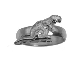Busy as a Beaver Solid Real Sterling Silver 925 Ring Jewelry pick size New - $22.97