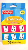 Fisher Price Flash Cards Division OR Subtraction OR Disney Cars Multiplication   - $4.99