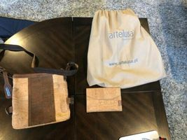 ARTELUSA CORK 2 Tone Purse with Corkor wallet image 8
