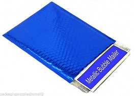 "Metallic Glamour Bubble Mailers Envelope Bags - 16"" x 17.5"" Blue 500 Pieces - $671.47"
