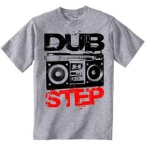 Dubstep Boombox - Amazing Graphic Grey T-Shirt S [Apparel] - $22.49