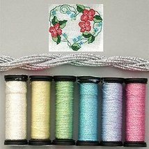 Pastel Anniversary Metallic Blending Filament Collection cross stitch Kr... - $18.00