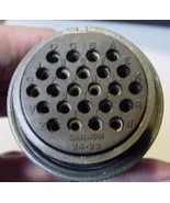 Military Cannon 24 Pin Female Connector 24-28 #-S3-MS3106R24-28S© wt Bla... - $9.85