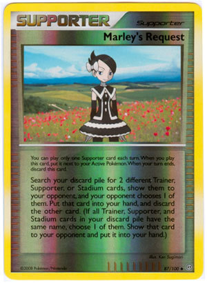 Marley's Request 87/100 Reverse Holo Uncommon Supporter Stormfront Pokemon Card