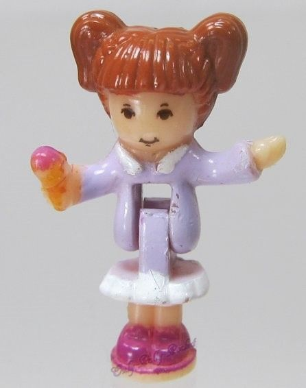 1996 Original Vintage Polly Pocket Doll Magical Movin' Pollyville - Tawny