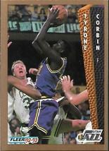 1992-93 FLEER NBA-#220-Tyrone Corbin-Jazz-Forward - $3.94