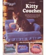 Kitty Couches Crochet Patterns 3 Designs  - $10.45