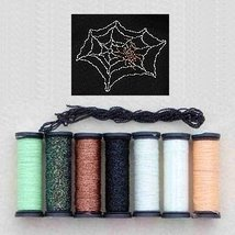 Halloween Anniversary Metallic Blending Filament Collection cross stitch... - $18.00