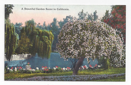 CA Beautiful Garden Scene in California Julis J Hecht Quality Cards Post... - $5.69