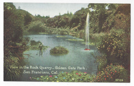 San Francisco CA Golden Gate Park Rock Quarry View Vntg PNC Postcard S.F... - $8.54