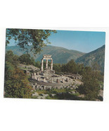 Greece Delphi Marmaria Tholos Athena Temple Ancient Ruins Vtg Postcard 4X6 - $6.36