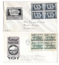 2 FDC Sc# 981 942  Loor Cachet Covers Iowa Statehood Minnesota Territory... - $4.99