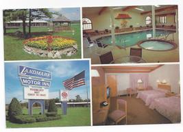 Glen Falls NY Landmark Motel Motor Inn Swimming Pool Mutiview 1994 Postc... - $6.36