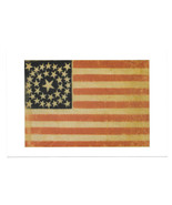 American Flag Advertisement Jeff Bridgman Antiques Postcard 4X6 York Cou... - $9.25