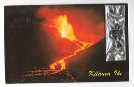HI Kilauea Iki Volcano Black Sand Lava Cinders Add-On Hawaii Night Vtg P... - $9.25