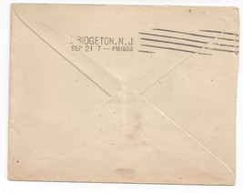 Hampden Machine Cancel D2 K1Bridgeton NJ 1903 Cover - $9.25