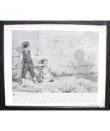 Berthold Genzmer Print The Black Man Crying Child Scared Children - $9.30