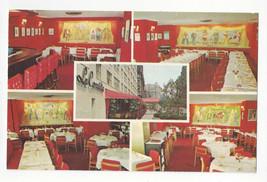 NY Restaurant Francais La Comedie New York City Multiview Interior Vtg P... - $9.45