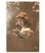 Glamour Postcard Beautiful Girl Pretty Child  DIX 1917 Tinted Real Photo - $8.54