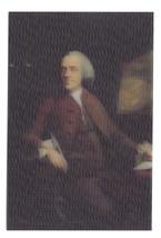 Mason Chamberlin Lenticular 3-D Art Postcard Benjamin Franklin Portrait 4X6 - $9.45