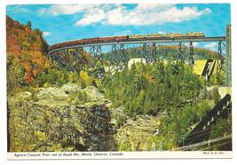 Ontario Agawa Canyon Tour Train Trestle Sault Ste Marie Canada Vtg Postc... - $4.74