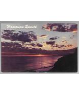 Hawaii Sunset Vintage H.S. Crocker Hawaiian Postcard Honolulu HI - $4.74