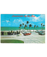 Florida Lauderdale by the Sea Villa Serena Private Beach Cars Vtg Postca... - $5.69