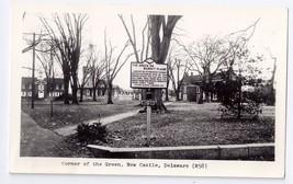RPPC New Castle Delaware DE Corner of the Green Real Photo - $9.45