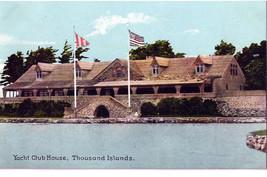 Thousand Islands House NY Yacht Club House Vintage Postcard - $6.36