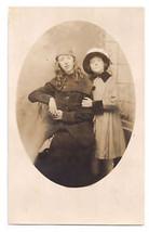 Vintage Photo Girls Studio Pose ca 1920s Fashion Hats Coats RPPC - $9.30