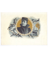 Cigar Box Label Unsinkable Molly Brown in Fur Winter Scene Ship Lithograph - $25.00