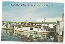 Tangier Island Ferry Dorolena II Rudy Thomas Captain Boat Ship Virginia ... - $8.54