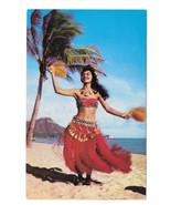 Hawaii Hula Girl Tahitian Dancer Waikiki Beach ... - $6.36