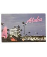 Honolulu Hawaii Airport John Rodgers Terminal Volcano Water Fountain Pos... - $5.69