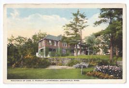 Greenfield MA Peabody Residence Lupmewood Curteich Postcard - $8.54